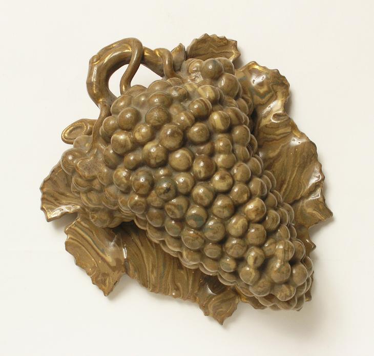 Hrozen na listu - Dóza 1860 - (G784) - Porcelán