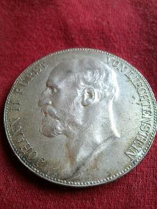 5 Kronen 1915 Johan II Furst von Lichtenstein