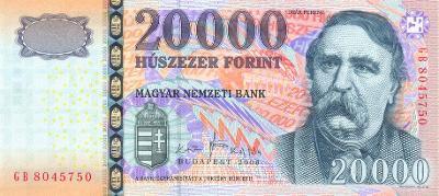 MADARSKO 20000 Forint 2008 P-201a UNC