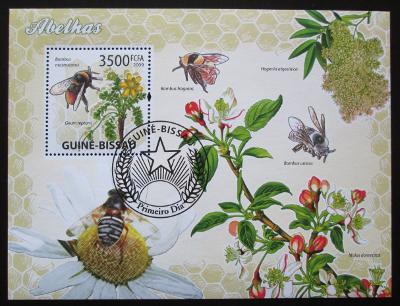 Guinea-Bissau 2009 Včely Mi# Block 728 14€ 1484