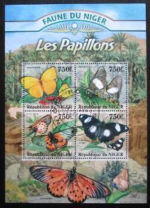 Niger 2013 Motýli Mi# 2021-24 Kat 12€ 0433
