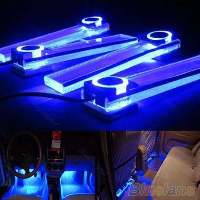 Modré osvětlení do automobilu