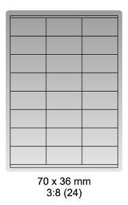 Samolepicí bílé etikety 52,5x29,7mm, A4 (100ks)