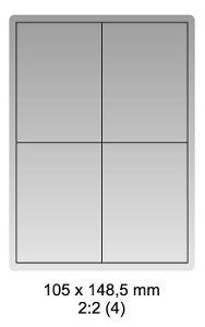 Samolepicí bílé etikety 105x148,5mm, A4 (100ks)