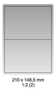 Samolepicí bílé etikety 210x148,5mm, A4 (100ks)