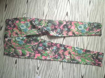 AMISU  jednou použité vzorované pružné slim kalhoty eu36 pas 74-76cm