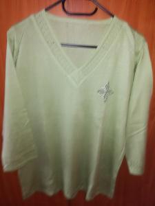 Zelený svetřík XL