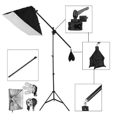 Fotostudio 900W - Boom stativ, softbox 60x60 cm