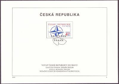 POF. 213 - NÁLEPNÍ LIST - VSTUP ČR DO NATO (T3917)