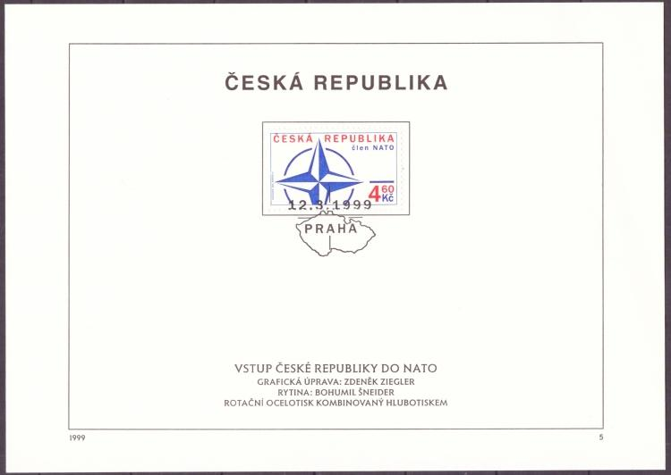POF. 213 - NÁLEPNÍ LIST - VSTUP ČR DO NATO (T3917) - Filatelie