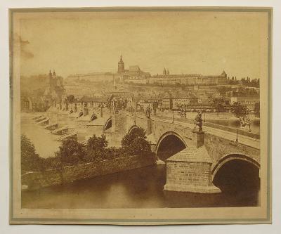 Fr. Fridrich - Karlův most a Hrad 1870 - (H91)