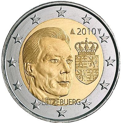2 EUR Lucembursko 2010 - Státní znak
