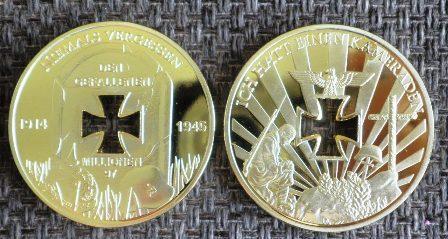 NĚMECKO 1914-45 Niemals Vergessen 97mln Kříž *61