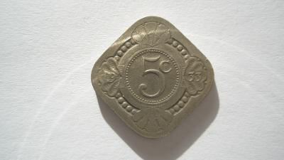Holandsko 5 cent 1933 vzácný
