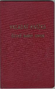 Vkladní knížka české banky Union
