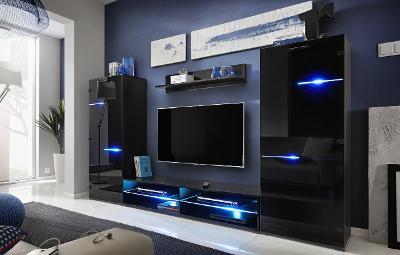 Nádherná obývací stěna MODERN /LED+dopr.0Kč 2barvy