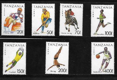 TANZÁNIE 1467-73 Sport 1993 kompletní serie  **