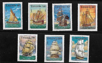TANZÁNIE 1739-45 Lodě - plachetnice kompletní