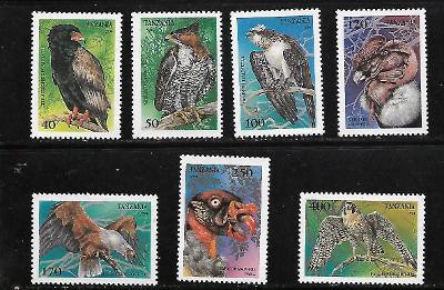 TANZÁNIE 1854-60 Draví ptáci kompletní serie  **