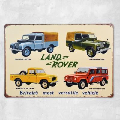Land Rover - kovová cedule 20 x 30 cm