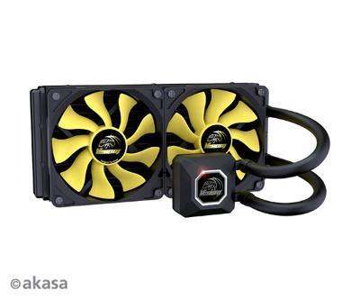 Nový vodní chladič AKASA CPU Venom A20 2x12cm 4pólové čerpadlo záruka