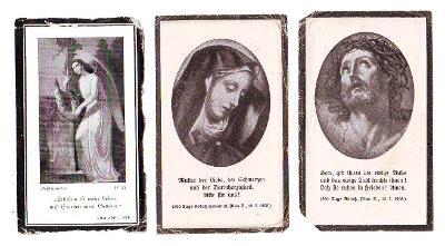 Pohřebnictví - úmrtní lístky, Rakouko,1937-43-44
