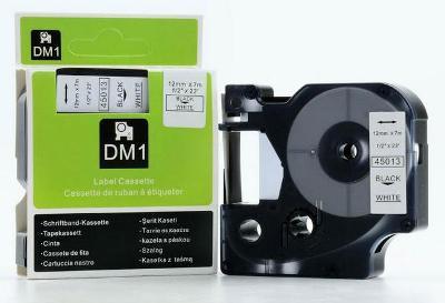 Dymo D1 45013, 12mm x 7m černá/bílá, kompatibilní
