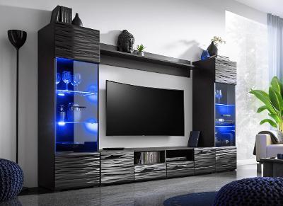 Stylová obývací stěna MODICA /LED+dopr.0! NOVINKA!