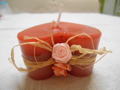 Valentýnské  vonné svíčky