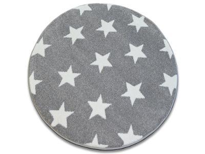 KOBEREC SKETCH kruh 140 cm STARS šedý #GR2463