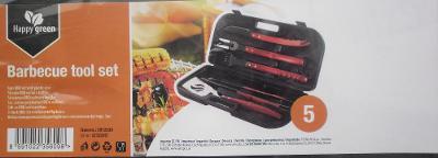 Sada nářadí ke grilování, NOVÁ, 5 kusů + kufřík