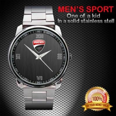 Ducati Corsa Logo Motocykl - hodinky nerezová oc