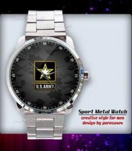US ARMY logo Sport - hodinky nerezová ocel