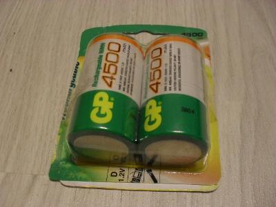 akumulátory GP 4500 mAh typ D- nové