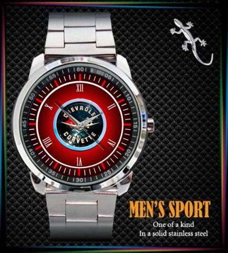 C2 Corvette Logo Sport - hodinky nerezová ocel - Módní doplňky