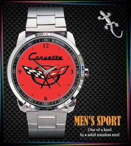 C4 C2 C7 Corvette Logo - hodinky nerezová ocel