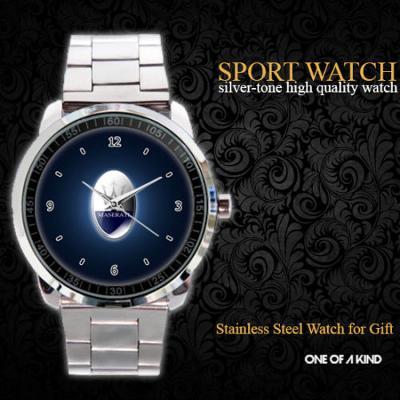Maserati Car Logo Sport - hodinky nerezová ocel