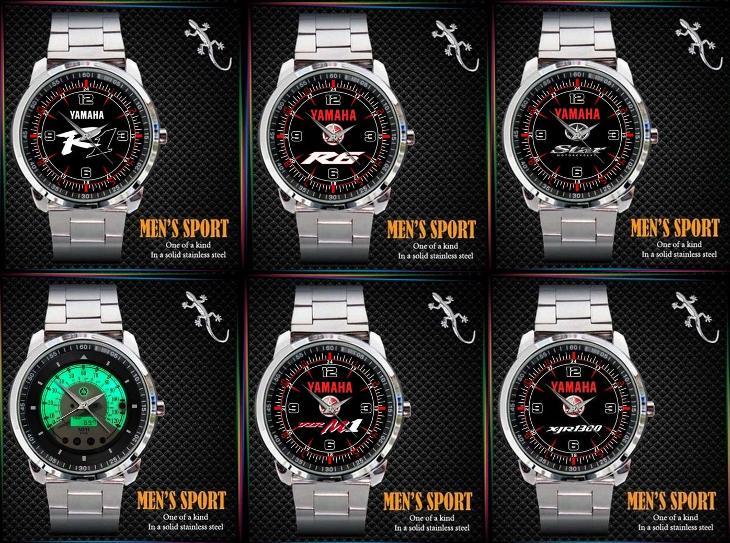 Yamaha R1 / R6 / Star / Vmax /YZR-M1 / XJR1300 / hodinky nerezová ocel - Módní doplňky