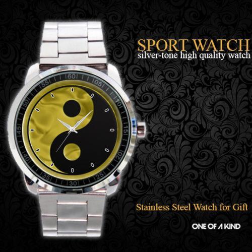 Golden Yin Yang - hodinky nerezová ocel - Módní doplňky