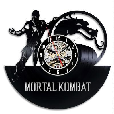 Mortal Kombat - nástěnné hodiny vinyl