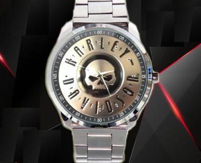 Harley Davidson Skull logo - hodinky nerezová oc