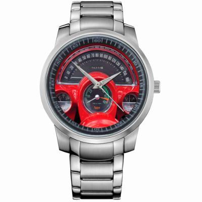 CORVETTE CHEVROLET INTERIOR- hodinky nerezová oc
