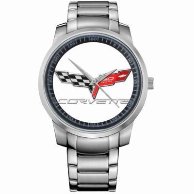 CORVETTE LOGO - hodinky nerezová ocel