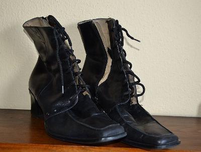 Dámské luxusní boty - kotníčkové