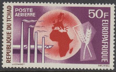 Čad 1964 EUROPAFRIQUE Mi# 119 0110