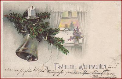 Vánoce * zvon, svíčka, větvička * M3592