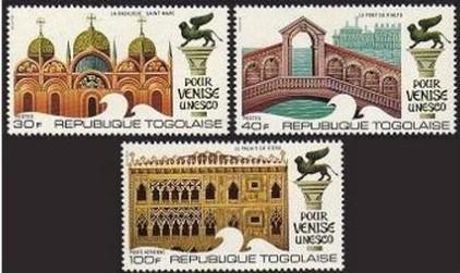 Togo 1972 Benátky, UNESCO Mi# 908-10 0148