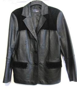 Dámská kožená bunda v. M