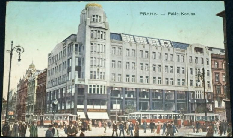 37f32e3412 Praha Palác Koruna - tramvaje cca 1920