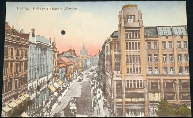 77b9863fa9 Praha Příkopy s palácem Koruna - 1917 (6941837682)